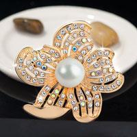 Silver Gold Floral Vintage Rhinestone Wedding Bridal Pearl Swarovski Crystal Brooches