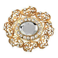 Bridal Party Brooch Pin Pendant Clear Austrian Rhinestone Crystal Vintage