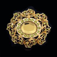 Bridal Party Brooch Pin Pendant Big Austrian Rhinestone Crystal Vintage