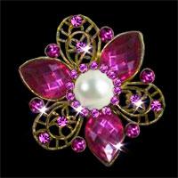 Antique Rhinestone Crystal Wedding Bridal Bouquet Flower Pearl Brooch Pin