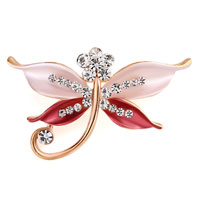 Brooches & Pins - butterfly brooch pin enamel white rhinestone crystal red bridal brooches Image.