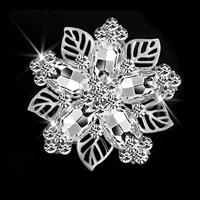 Clear Stone Rhinestone Crystal Wedding Bridal Bouquet Flower Brooch Pin