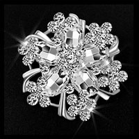 Vintage Rhinestone Crystal Wedding Bridal Bouquet Flower Brooch Pin