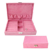 KSEB SHEB Items - pink jewelry storage box /  organizer /  display storage earring cufflink case Image.