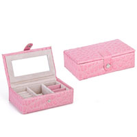 KSEB SHEB Items - light pink jewelry storage box /  organizer /  display storage earring cufflink case Image.
