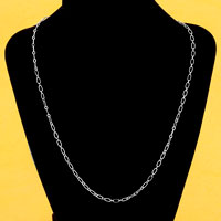 Necklaces - silver tone link chain necklace new fashion jewelry 20  inches Image.