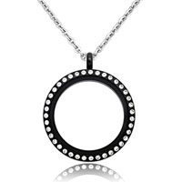 Necklace & Pendants - new jewelry black medium living locket birthstones charms pendant necklaces Image.