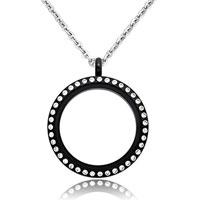 Necklace & Pendants - new jewelry black medium living locket birthstones charms pendant necklaces Image.