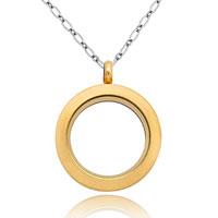 Necklace & Pendants - fashion jewelry golden floating medium living locket chains pendant necklace Image.