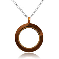 Necklace & Pendants - new unisex coffee golden medium living locket party chains pendant necklace Image.