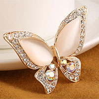Rhinestone Crystal Bridal Flower Butterfly Animal Breastpin Brooch Bouquet