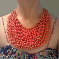 Necklace & Pendants - vintage stone choker crystal collar statement bib necklace pendant Image.