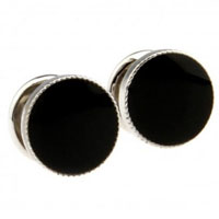 KSEB SHEB Items - cuff links black round crystal cz cufflinks for men' s french shirt Image.