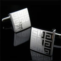 KSEB SHEB Items - cuff links fashion laser square cufflinks for men' s french shirt Image.