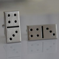 KSEB SHEB Items - lucky number seven dice game cube men' s cufflinks fashion jewelry Image.