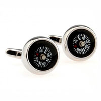 KSEB SHEB Items - cuff links round novelty black compass cufflinks for men' s shirt Image.