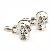 KSEB SHEB Items - cuff links 316 l stainless steel grinning skull men' s cufflinks Image.