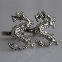 KSEB SHEB Items - animal rhodium plated chinese dargon cufflinks men' s shirt cuff link Image.