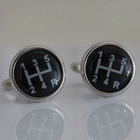 KSEB SHEB Items - fashion deluxe cufflinks racing car black gear stick for men' s suit Image.