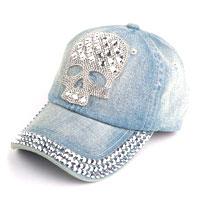 Clothing & Accessories - fashion hot skull womens cotton baseball hat denim jeans golf dancing cap hip hop Image.