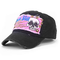 Clothing & Accessories - new skull girls black baseball hat sun hat adjustable cotton hip hop cap trucker hat Image.