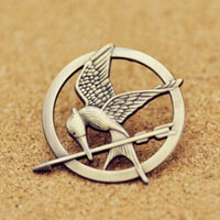 New Mockingjay Pin Bronze Badge Brooch Bird Tribute Token Brooches Pin