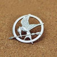 New Mockingjay Pin Silver/ P Badge Brooch Bird Tribute Token Brooches Pin