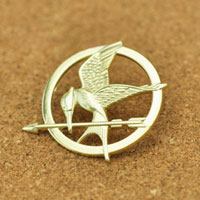 New Mockingjay Pin Gold Plated Badge Brooch Bird Tribute Token Brooches Pin