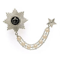 KSEB SHEB Items - fashion new silver chain tassel star badge brooches white pearl brooch pin Image.