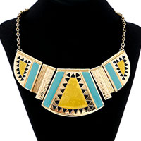 Necklace & Pendants - vintage stone choker crystal collar statement bib necklace pendant Image.