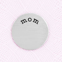 KSEB SHEB Items - jewelry small silver tone mom plate for memory living locket charm Image.