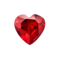 KSEB SHEB Items - january heart birthstone floating charms fit memory living locket Image.