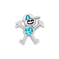 KSEB SHEB Items - boy with december birthstone floating charms for living memory locket Image.