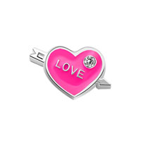 KSEB SHEB Items - arrow through the heart love enamel floating charms for living memory locket Image.