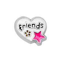 KSEB SHEB Items - jewelry floating memory living locket white heart friends star charms Image.