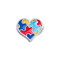 KSEB SHEB Items - charms autism awareness heart floating charms for living memory locket Image.