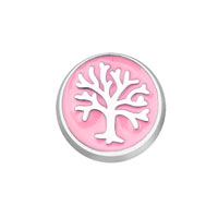 KSEB SHEB Items - jewelry floating memory living locket pink family tree of life round charm Image.