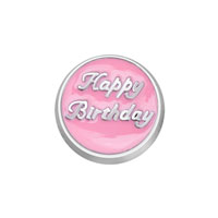 KSEB SHEB Items - jewelry floating memory living locket happy birthday pink round charm Image.