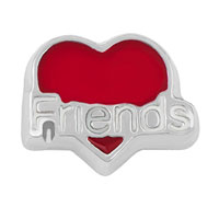 KSEB SHEB Items - jewelry floating memory living locket charms silver p red heart love friends Image.