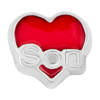 KSEB SHEB Items - jewelry floating memory living locket charms silver p red heart love son Image.