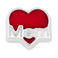 KSEB SHEB Items - jewelry floating memory living locket charms silver p red heart love mom Image.