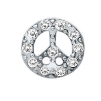 KSEB SHEB Items - charms peace sign crystal floating charms for living memory locket Image.
