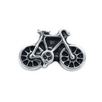 KSEB SHEB Items - floating charms vintage bike silver tone for living memory locket Image.