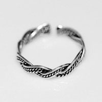 Rings - 925  sterling silver womens/ lady fashion band wave ring opening adjustable Image.