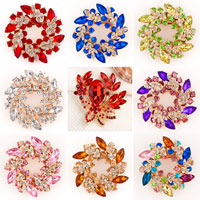 Vintage Rhinestone Crystal Bridal Bouquet Floral Multicolor Brooch Pin