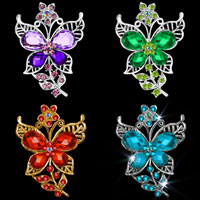 Butterfly Crystal Rhinestone Wedding Purple/ Green/ Blue/ Red Pin Brooch