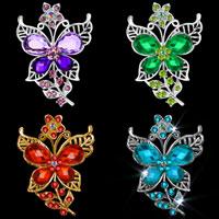 Butterfly Crystal Rhinestone Wedding Purple/ Green/ Blue/ Red Pin Brooch