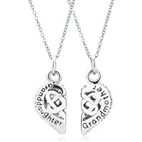 Charms Beads - 2  pcs heart grandmother granddaughter hollow fit necklace beads charms bracelets all brands Image.