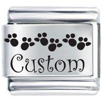 L_AA0002: custom feet gift ideas italian charm laser italian charm Image.