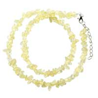 Necklaces - citrine chip stone necklaces aragonite stone chips necklace for women Image.